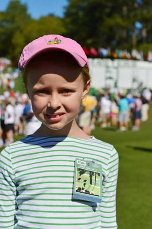 Annie Stegall, MyUsualGame special correspondent and Augusta Chronicle Junior Patron of the Day, April 13, 2013.