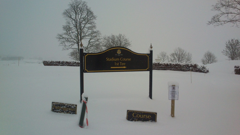 Stadium Course, Bro Hof Slott Golf Club, Stockholm, Sweden, February 7, 2013.