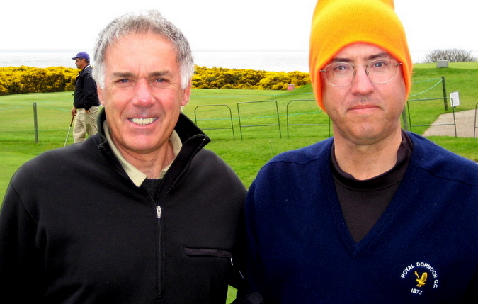 Tony and D.O., Royal Aberdeen Golf Club, Scotland, May, 2008.