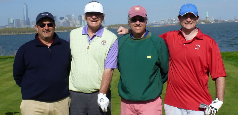 Will, Brent, D.O., Ben, Liberty National Golf Course, Jersey City, New Jersey, May 5, 2013.