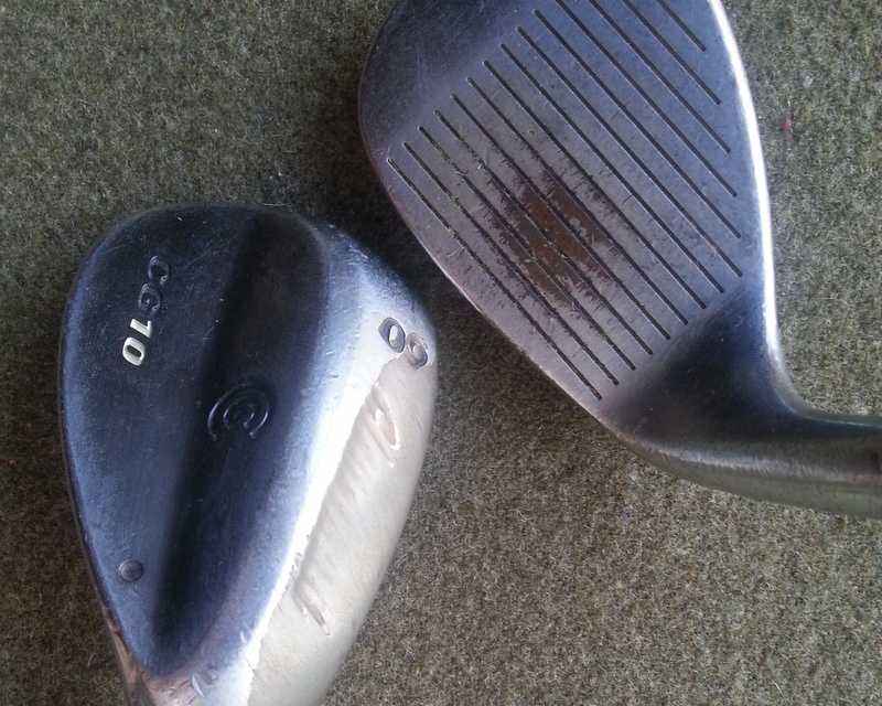 Now retired: the 52- and 60-degree wedges I bought in 2005.