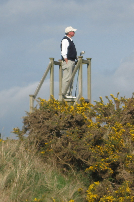 Hacker (real name), Royal Birkdale, May, 2010.