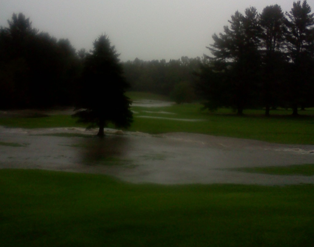 Home course, flooded fairways, September, 2011.