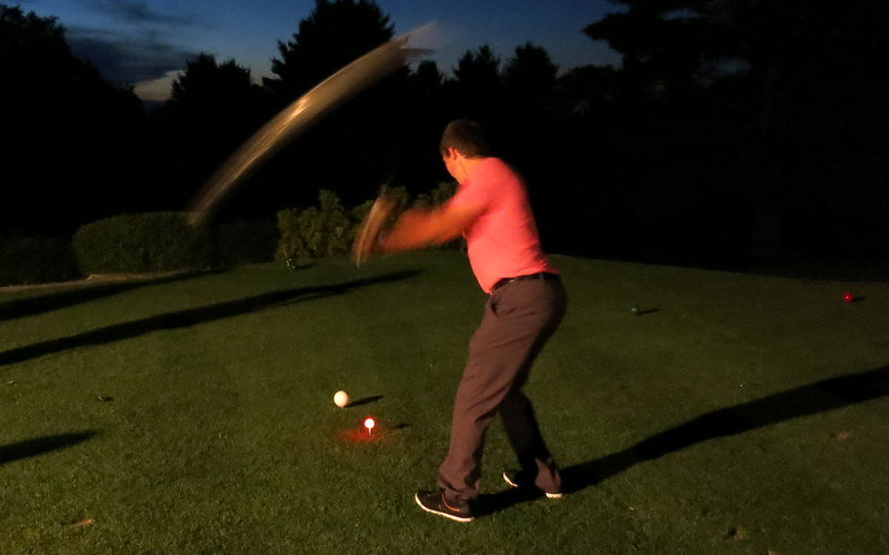 Young Nick, first tee, 9:45 p.m., July 5, 2013.