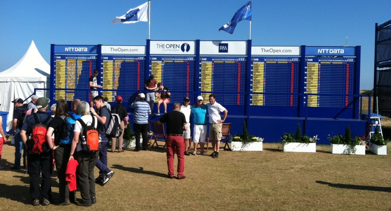 Rick Hunt, a reader, was at the Open both days this weekend. He took this photo on Saturday