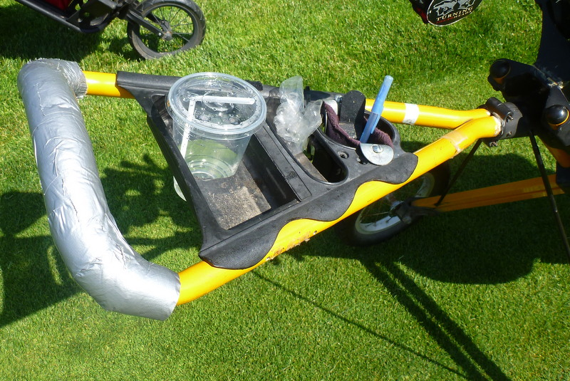 Note the improved cupholder and pencil caddie.