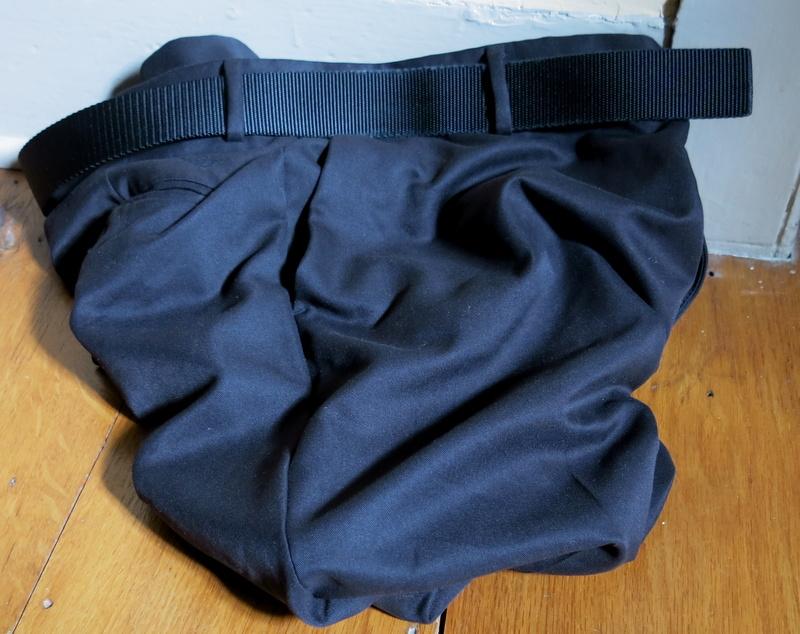 Docker's 365 Advantage microfiber pants, in overnight storage.