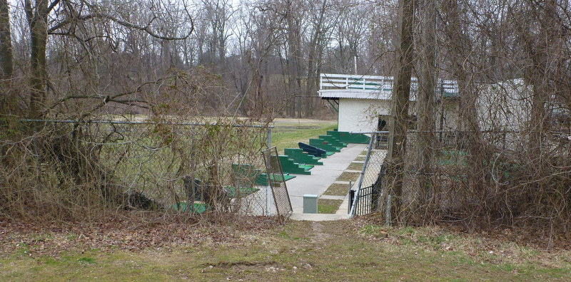 Here's the driving range next door. During the early years of the Cold War, it was a missile base.