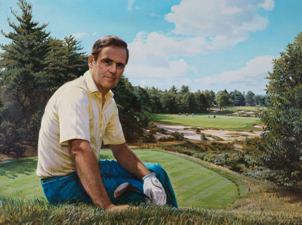 Ernie Ransome, No. 18 tee, Pine Valley Golf Club.