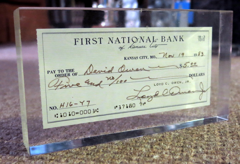 how to write a check with change
