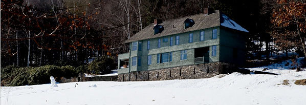 Kipling's house in Vermont. He used to hit red golf balls down that snow-covered hill.
