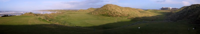 Eighteenth tee, Old Course, Ballybunion, Ireland, December 30, 2013.