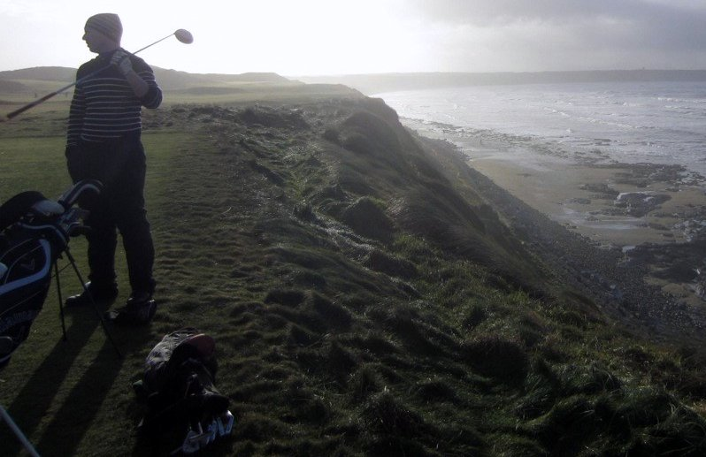 Dara, seventh tee, Ballybunion, December 30, 2013.