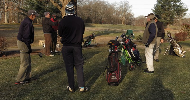 The Sunday Morning Group visits the Black Course at the Wheel, January 1, 2014.