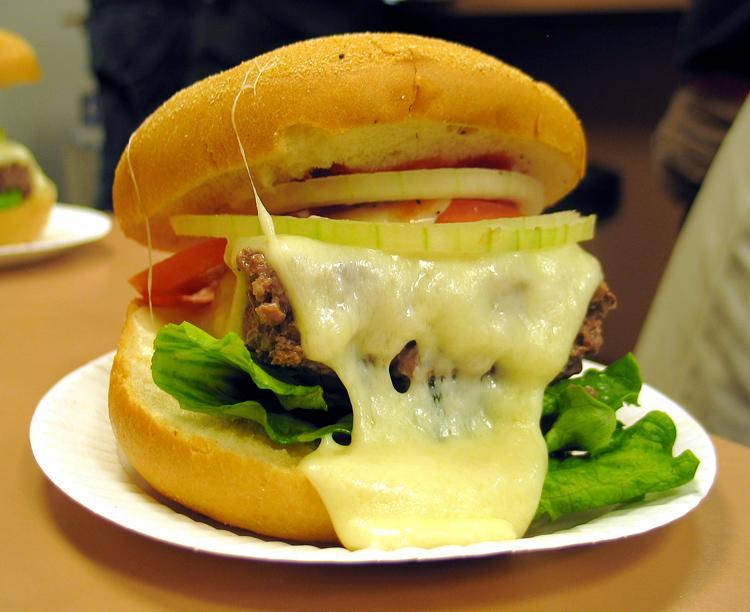 Steamed cheeseburger.