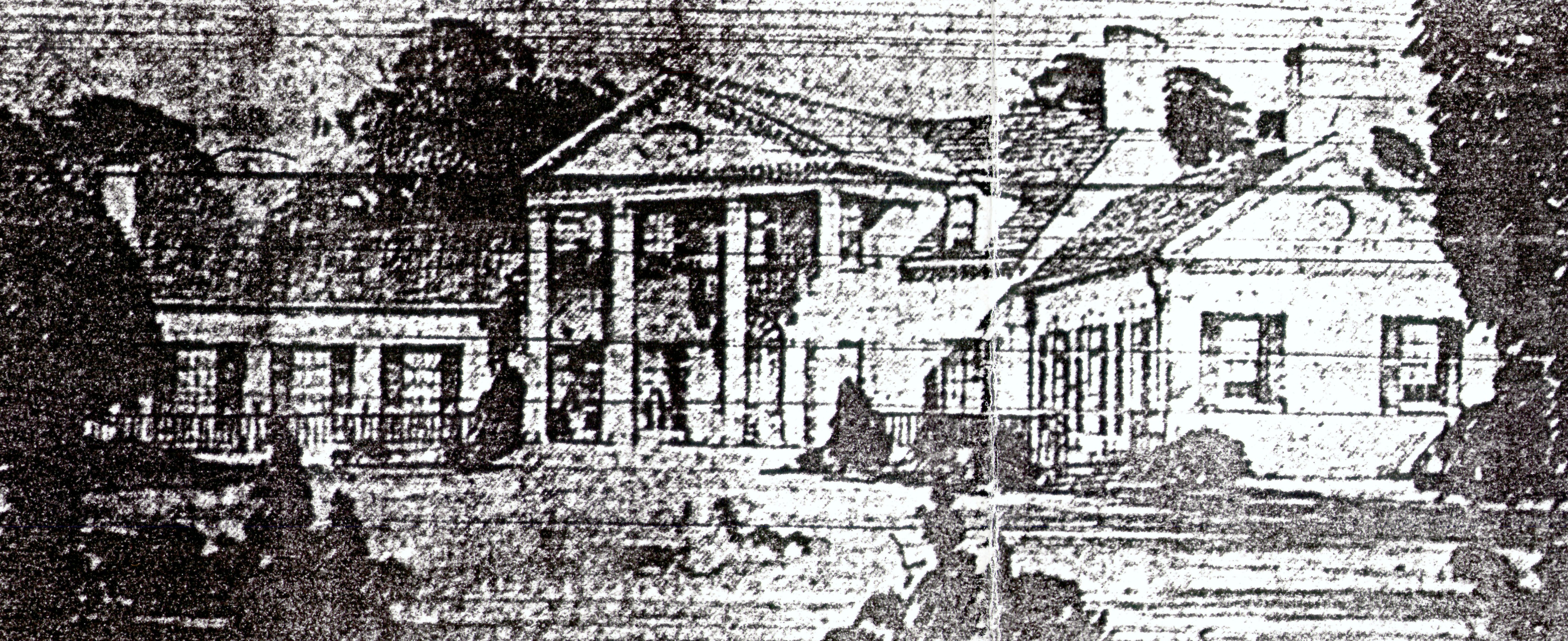 The clubhouse that was never built, designed by Willis Irvin, a prominent Augusta Architect. I apologize for the appalling quality of the image, which is a scan of a photocopy of a microfilm print of a newspaper photograph of a drawing.