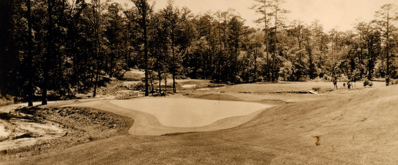 Eleventh green, twelfth tee, twelfth green, Augusta National, early 1930s.