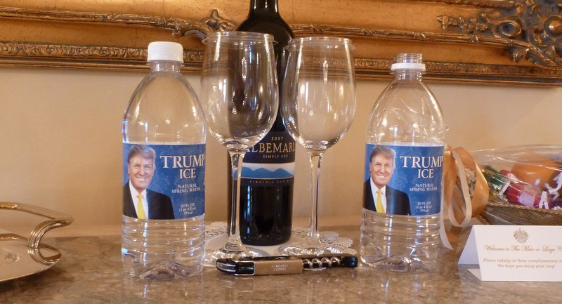 Some of the en-suite luxuries in my room at Mar-a-Lago, where I spent one night in 2012.