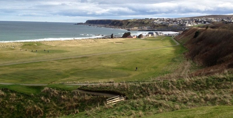 The first hole, second tee, fifteenth green, sixteenth tee, seventeenth green, and eighteenth hole at Cullen.