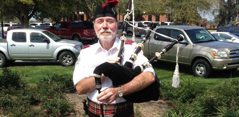 A gentleman is someone who knows how to play the bagpipes and doesn't--or something like that.