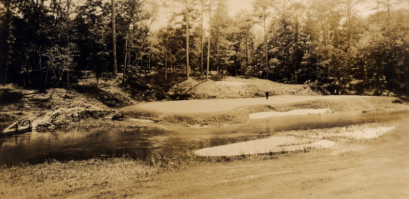 The twelfth green in 1935, the year of the second Masters.