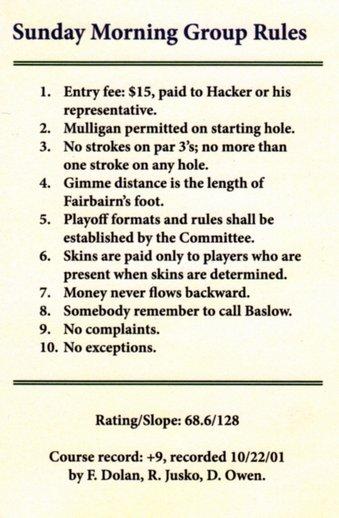 Scorecard rules