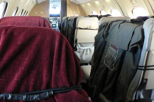 newspapers on plane