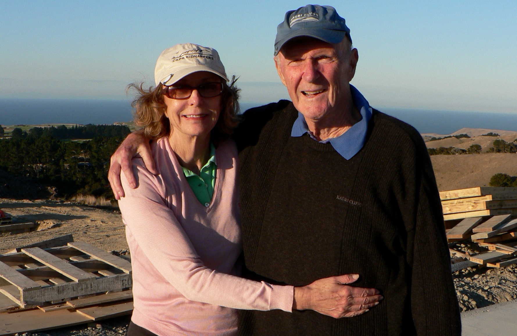Josie and Julian Robertson, Cape Kidnappers, March 11, 2007.