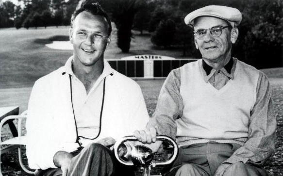 Arnold Palmer And Chairman Clifford Roberts (Photo by Augusta National/Getty Images)