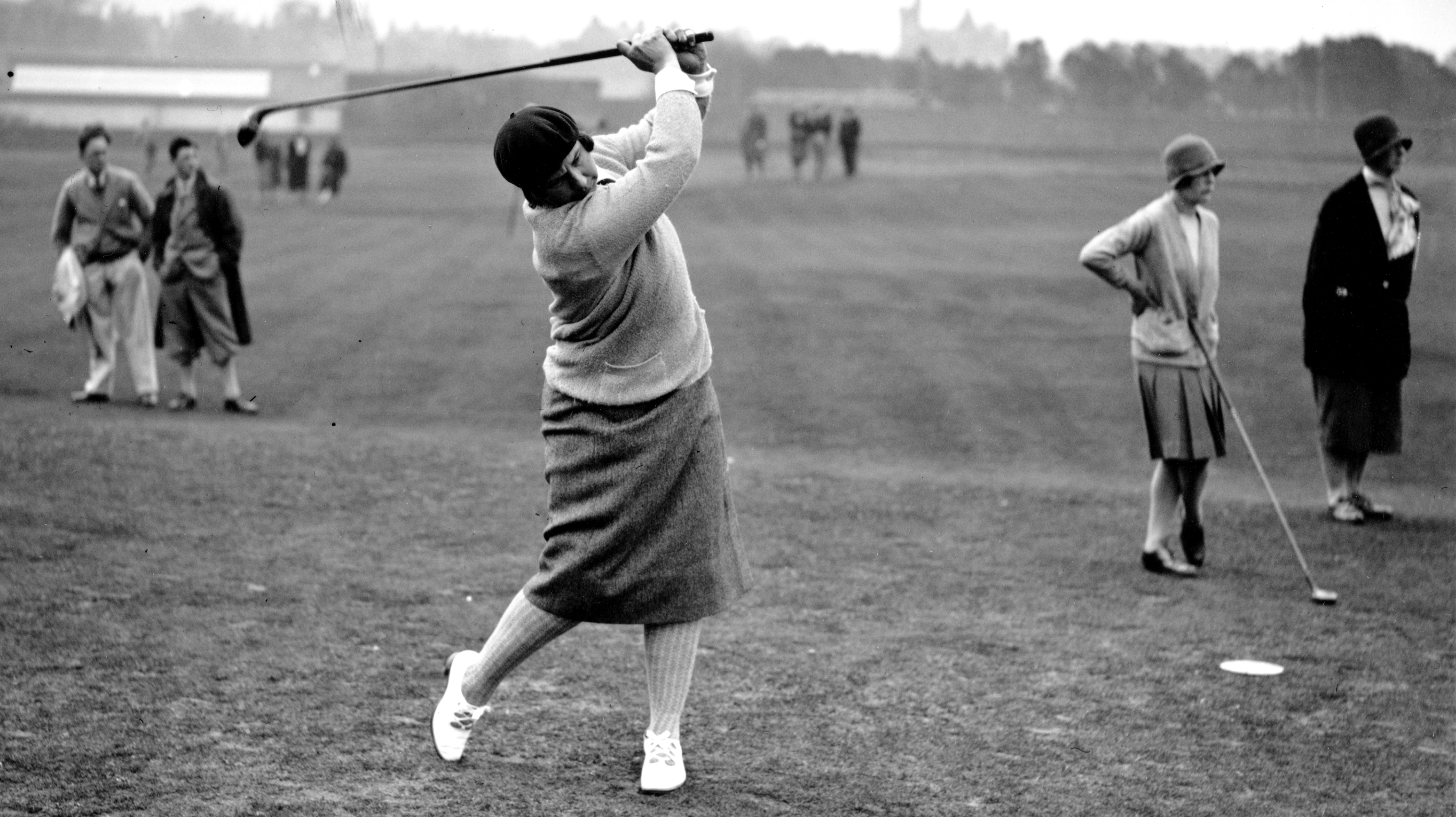 Marion Hollins, the captain of the first American Curtis Cup team and the founder of Women's National Golf & Tennis Club. (Photo by Puttnam/Topical Press Agency/Hulton Archive/Getty Images)