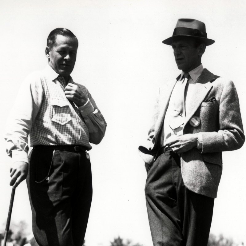 Bobby Jones And Fred Astaire At The Augusta National Golf Club (Photo by Augusta National/Getty Images)